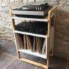 Mueble Rack Vintage V – Tornamesa y vinilos