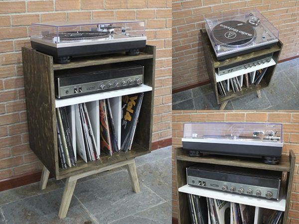 Mueble Rack Vintage I - Tornamesa y vinilos