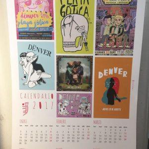 Calendario Umami 2017 coleccionable (Dënver + Playa Gótica)